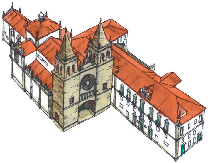 Desenho do Mosteiro de Santa Maria de Pombeiro