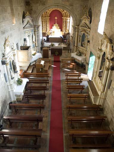 Interior da Igreja do Salvador de Unhão