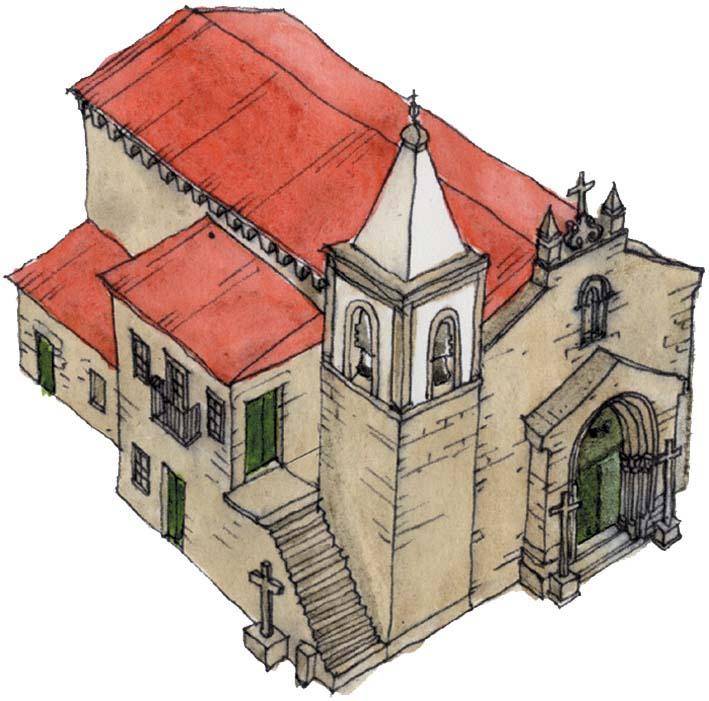 Desenho da Igreja do Salvador de Unhão