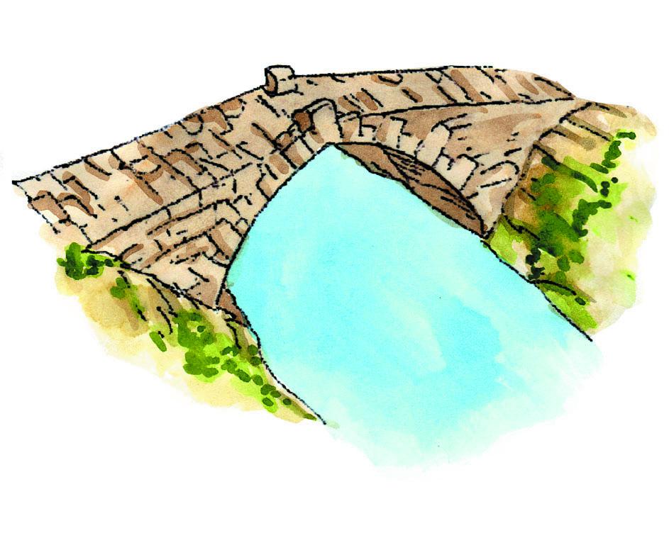 Desenho da Ponte da Veiga